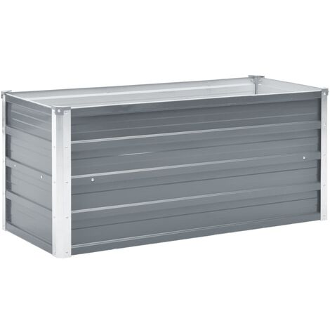 Garden Raised Bed Galvanised Steel 100x40x45 cm Grey