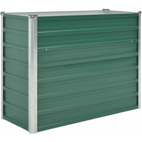 Garden Raised Bed Galvanised Steel 100x40x77 cm Green