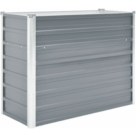 Garden Raised Bed Galvanised Steel 100x40x77 cm Grey