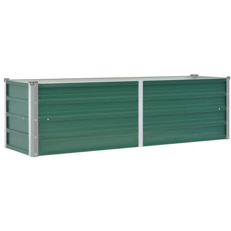 Garden Raised Bed Galvanised Steel 160x40x45 cm Green