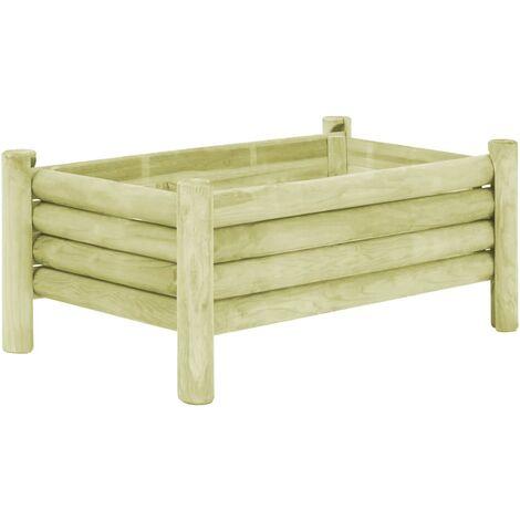 Garden Raised Bed Impregnated Pinewood 100x60x42 cm