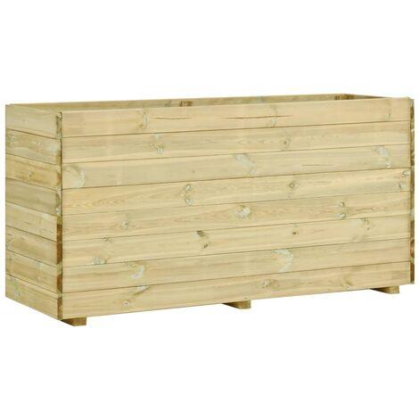 Garden Raised Bed with Floor 150x50x75 cm Impregnated Pinewood