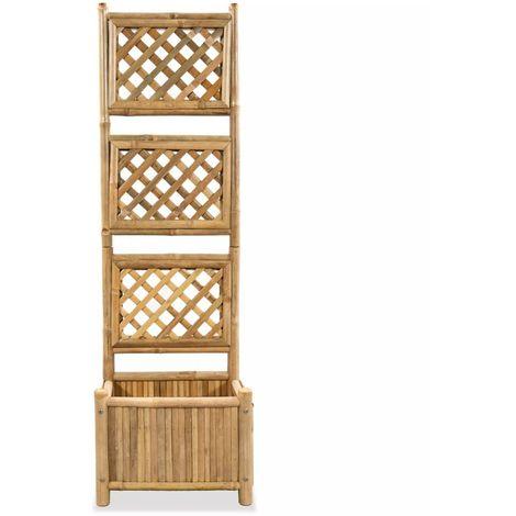 Garden Raised Bed with Trellis Bamboo 40 cm
