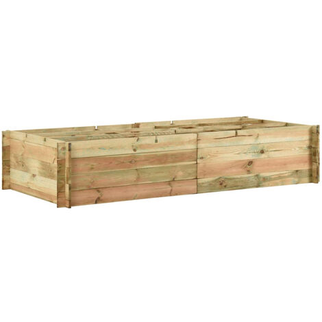 Garden Raised Vegetable Bed FSC Impregnated Pinewood 197x100x40 cm