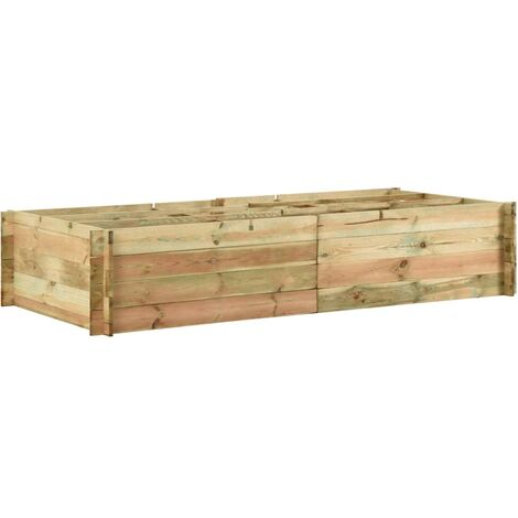 Garden Raised Vegetable Bed Impregnated Pinewood 197x100x40 cm
