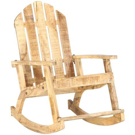 Garden Rocking Chair Solid Mango Wood - Brown