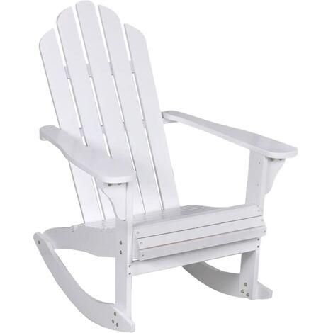 Garden Rocking Chair Wood White