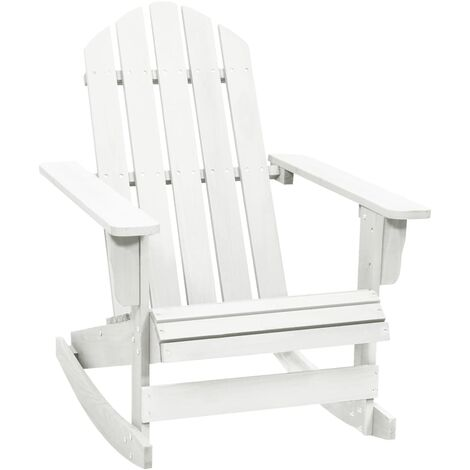 Garden Rocking Chair Wood White