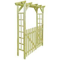 Garden Rose Arch 150x50x200 cm FSC Impregnated Wood