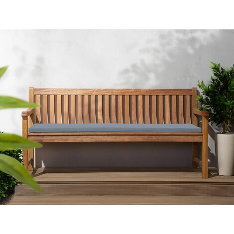 Garden Seat Bench Cushion Blue Polyester Water-Resistant Toscana/Java