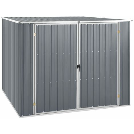 """main image of """"Garden Shed Grey 195x198x159 cm Galvanised Steel32534-Serial number"""""""