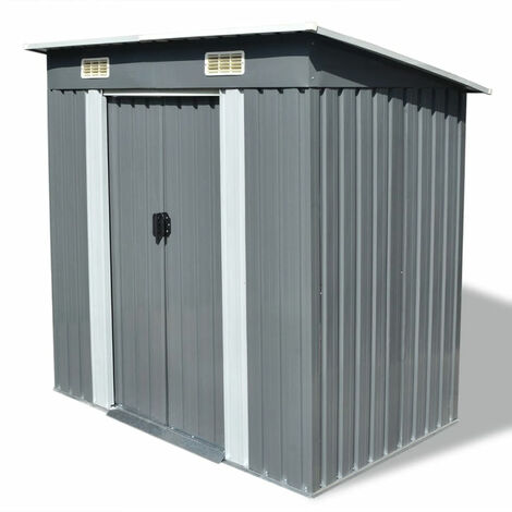 Garden Shed Grey Metal