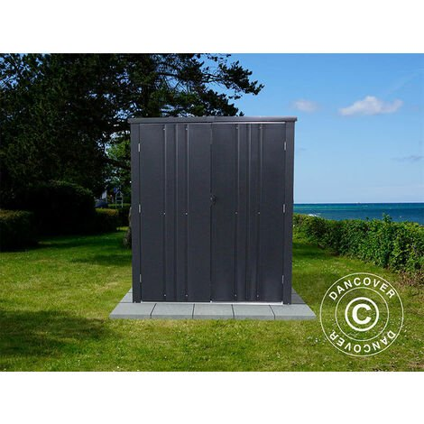 Garden shed/Steel cabinet 1.6x0.85x1.8 m, ProShed®, Anthracite