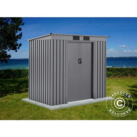 Garden Shed w/Flat Roof 2.01x1.21x1.76 m ProShed®, Aluminium Grey