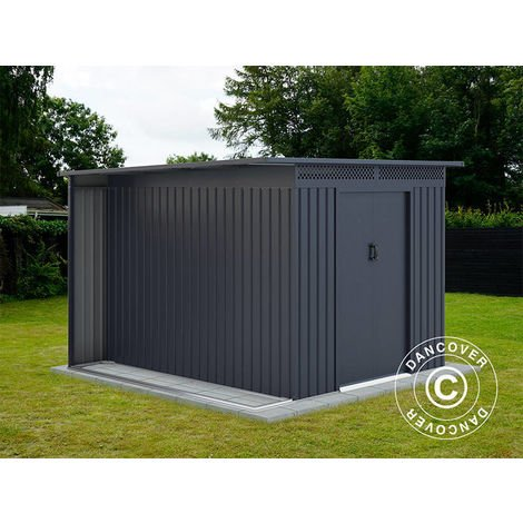 Garden Shed w/overhang, 2.57x2.69x1.87 m ProShed®, Anthracite