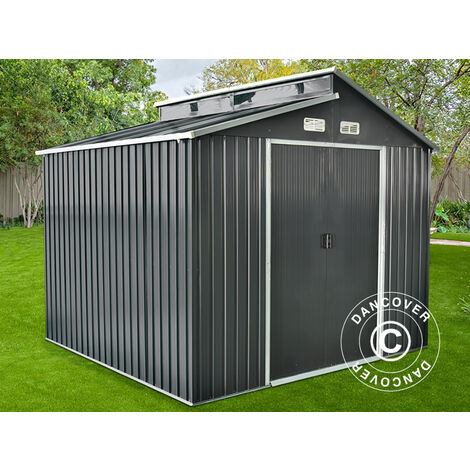 Garden shed w/skylight 2.78x2.6x2.34 m ProShed®, Anthracite