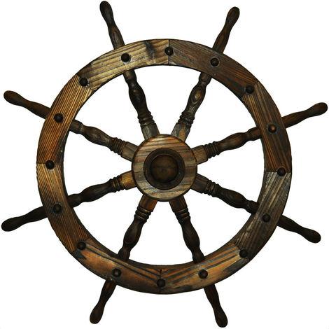 Garden Ships Wheel - Indoor / Outdoor Solid Wood Decoration
