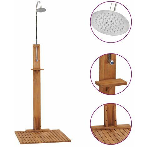 Garden Shower 75x75x210 cm Solid Teak Wood