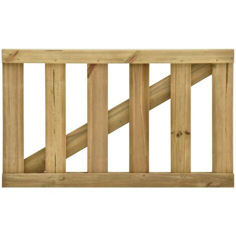 Garden Slats Gate Impregnated Pinewood 100x60 cm