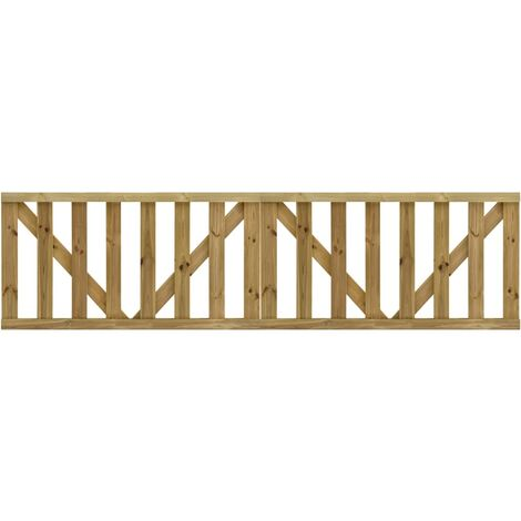 Garden Slats Gates 2 pcs Impregnated Pinewood 150x80 cm