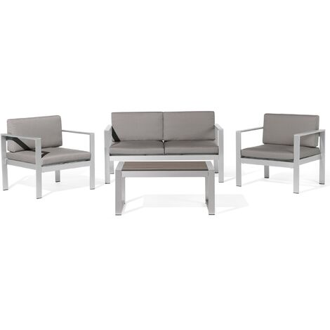 Garden Sofa Set Dark Grey SALERNO