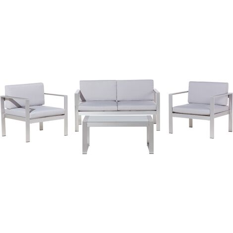 Garden Sofa Set Light Grey SALERNO