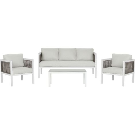 Garden Sofa Set White BORELLO