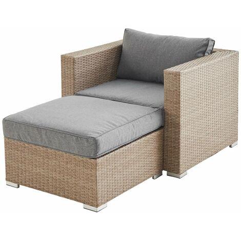 """main image of """"Rattan garden armchair with footrest - Genova"""""""