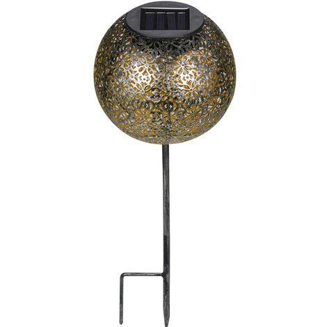 Garden Solar Light Globe Stake Lawn Lamp IP44 Water-resistant Outdoor Lights Warm White