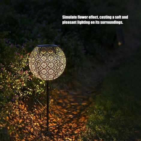 Garden Solar Light Globe Stake Lawn Lamp IP44 Water-resistant Outdoor Lights Warm White