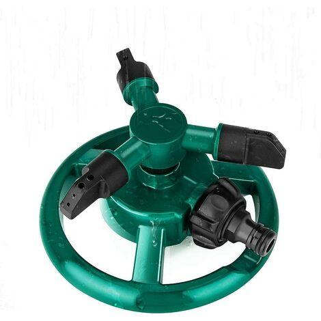 Garden Sprinkler, Adjustable Watering Nozzle, 360° Rotating Automatic Lawn Sprinkler, Automatic Garden Sprinkler for Lawn Vegetable Field