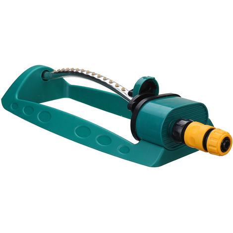 Garden Sprinkler Oscillating Sprayer Sled Base Kit 15 Hole Adjustable Hose Tube
