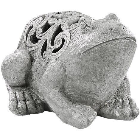 Garden Statue Frog Grey TIVOLLI