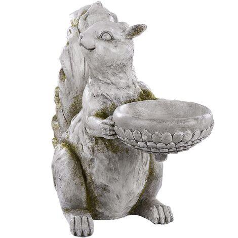 Garden Statue Squirrel Grey LISSE