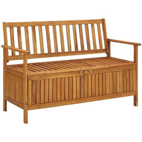 Garden Storage Bench 120 cm Solid Acacia Wood