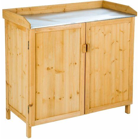 Garden storage bench - storage bench, outdoor storage bench, garden storage chest - brown - braun