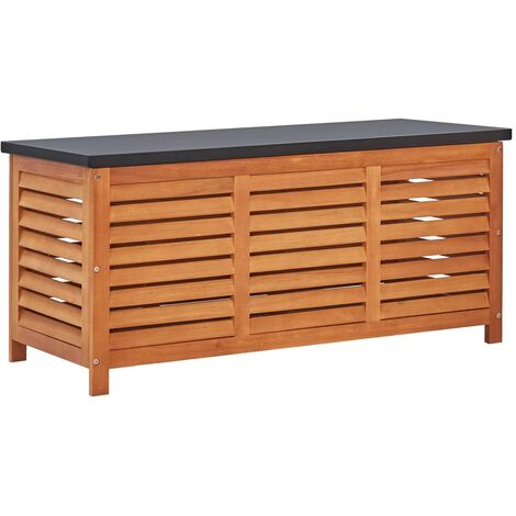 Garden Storage Box 117x50x55 cm Solid Eucalyptus Wood - Brown