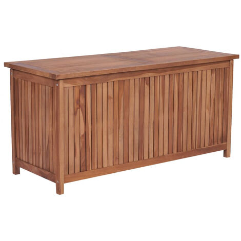 Garden Storage Box 120x50x58 cm Solid Teak Wood