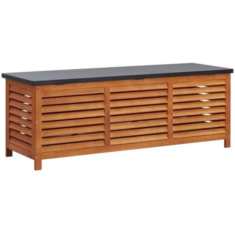 Garden Storage Box 150x50x55 cm Solid Eucalyptus Wood