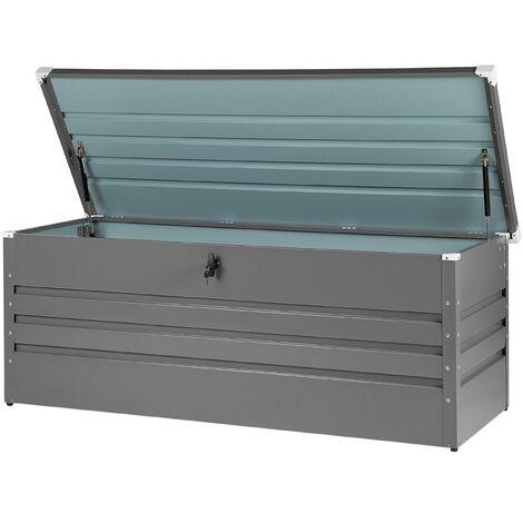 Garden Storage Box 165 x 70 cm Grey CEBROSA