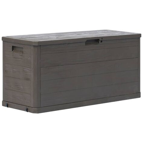 Garden Storage Box 280 L Brown