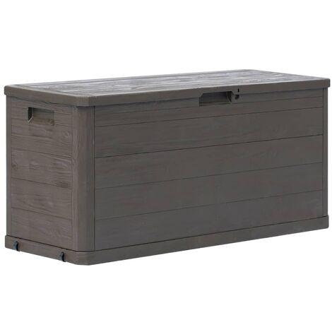 Garden Storage Box 280 L Brown - Brown