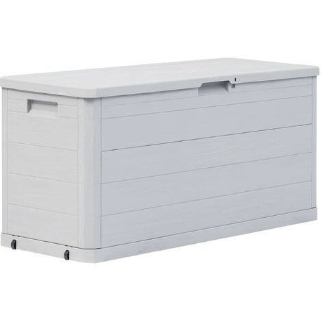 Garden Storage Box 280 L Light Grey