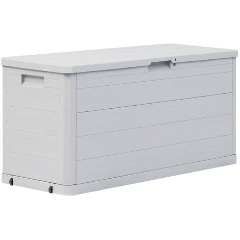 Garden Storage Box 280 L Light Grey - Grey
