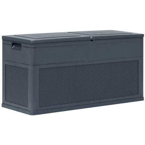 Garden Storage Box 320 L Anthracite - Anthracite