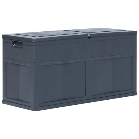 Garden Storage Box 320 L Black