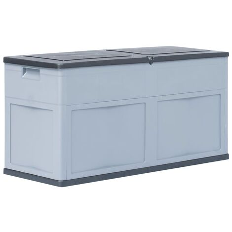 Garden Storage Box 320 L Grey Black
