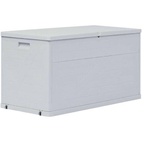 Garden Storage Box 420 L Light Grey