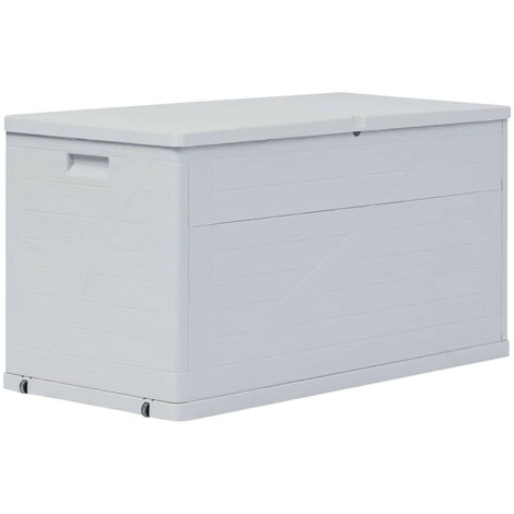 Garden Storage Box 420 L Light Grey