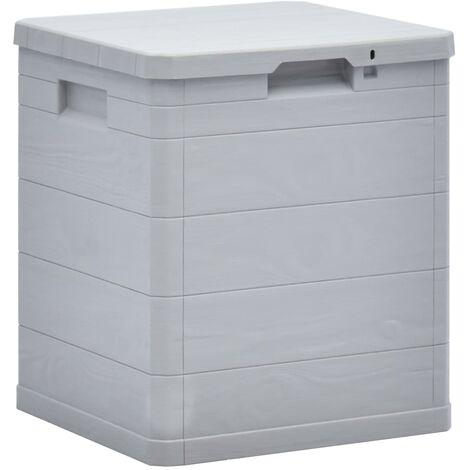Garden Storage Box 90 L Light Grey - Grey